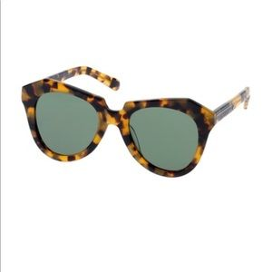 KAREN WALKER number one sunglasses tortoise shell